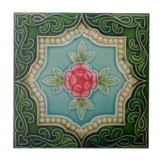 V0063 Victorian Antique Reproduction Ceramic Tile
