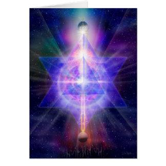 """V055 """"Merkaba Space"""" Card"""
