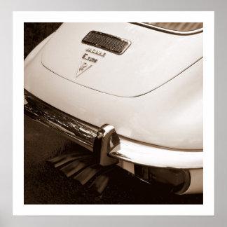 V12 Jaguar E-Type Poster