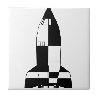 V2 German World War 2 Rocket Cartoon Tile