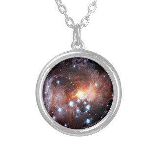 V838 Monocerotis Round Pendant Necklace