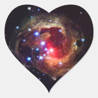 V838 Monocerotis Star (Hubble Telescope) Heart Sticker