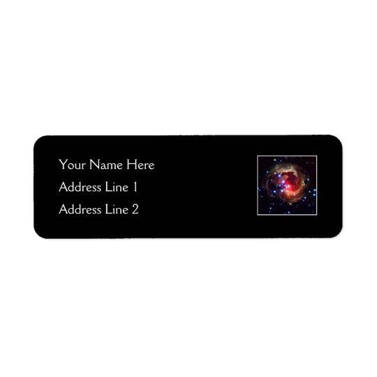 V838 Monocerotis Star (Hubble Telescope) Return Address Label