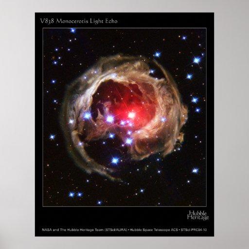 V838MonocerotisLightEcho-2004-10a Posters