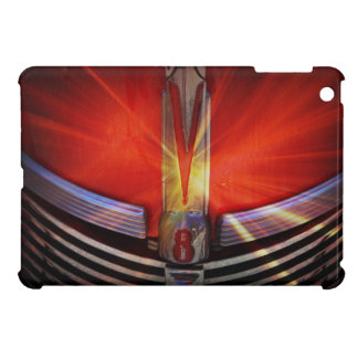 V8 Engine Shiny Red Car Front Grille iPad Mini Cover