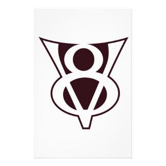V8 Symbol Personalized Stationery