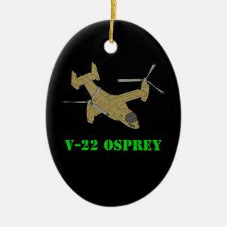 V-22 Osprey Plane Aircraft Art Design Ceramic Oval Decoration