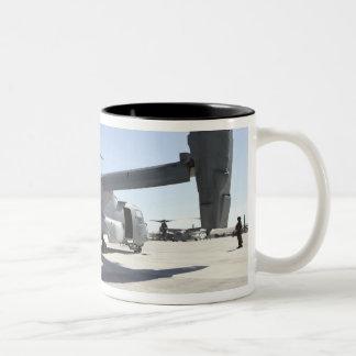 V-22 Osprey tiltrotor aircraft 2 Two-Tone Coffee Mug