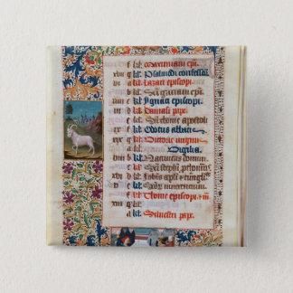 V.25-3 Fol.12v The Month of December 15 Cm Square Badge