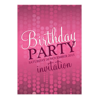 v 2 Pink Bokeh Sparkle Birthday Invitation