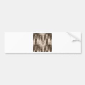 V and H Simple Wide Zigzag - Almond and Cafe Noir Bumper Sticker