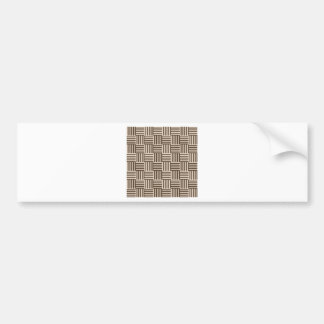 V and H Stripes - Almond and Cafe Noir Bumper Sticker