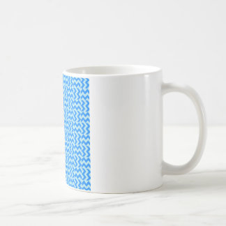 V and H Wide Zigzag - Blizzard Blue and Azure Coffee Mug
