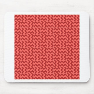 V and H Wide Zigzag - Pastel Red and Firebrick Mouse Pad