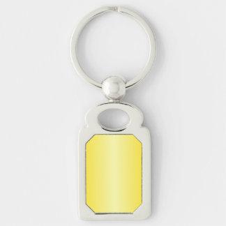 V Bi-Linear Gradient-Dark Yellow and Light Yellow Key Chains