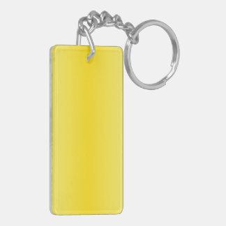 V Bi-Linear Gradient-Light Yellow and Dark Yellow Acrylic Key Chains