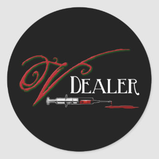 V Dealer - Vampire Blood Round Sticker