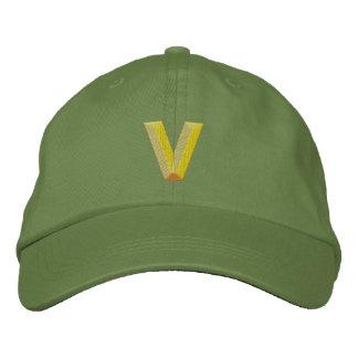 V EMBROIDERED HAT
