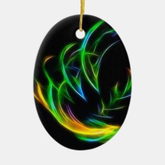V Flame Christmas Ornament