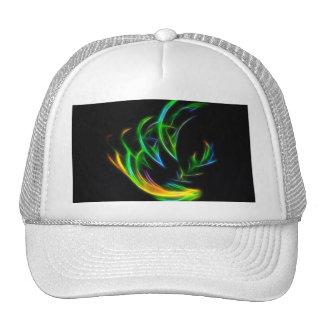 V Flame - Colorful Fractal Flame Mesh Hat
