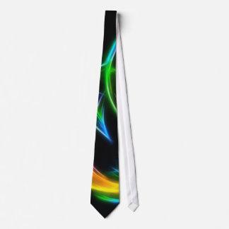 V Flame - Colourful Fractal Flame Tie