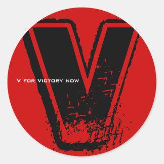 V For Victory Sticker 6