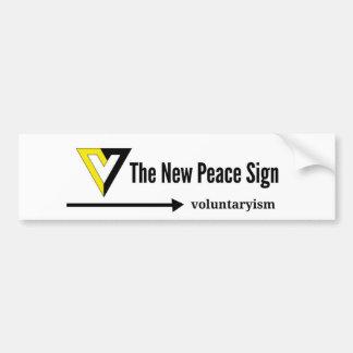V for Voluntaryism Bumper Sticker
