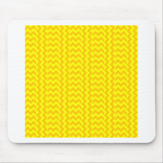 V&H Simple Wide Zigzag-Yellow and Tangerine Yellow Mouse Pad