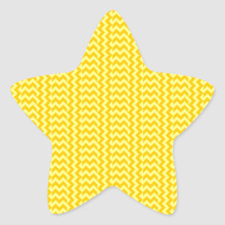 V&H Simple Zigzag - Yellow and Tangerine Yellow Star Sticker