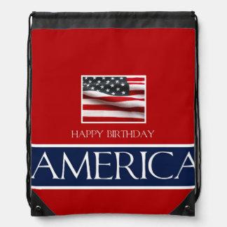 v   Haopy birthday America 4th July.jpg Drawstring Bag