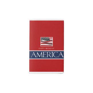 v   Haopy birthday America 4th July.jpg Pocket Moleskine Notebook