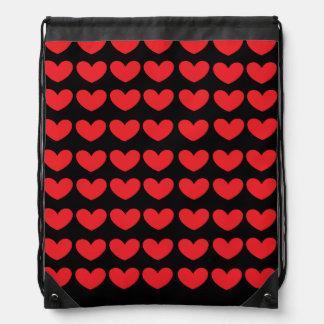 V hearts backpack string