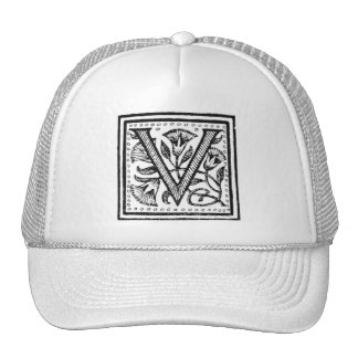 V Initial from A Monk of Fife Hat