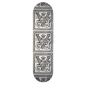 V Initial from A Monk of Fife Custom Skateboard