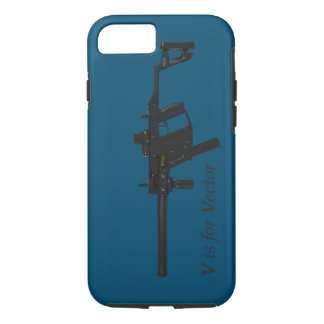 V is for Vector Submachine Gun iPhone 7 Case