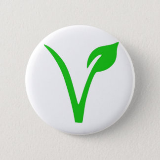 V is for Vegan 6 Cm Round Badge