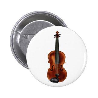 V is for Violin 6 Cm Round Badge