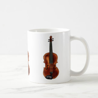 V is for Violin Basic White Mug