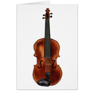 V is for Violin Greeting Card