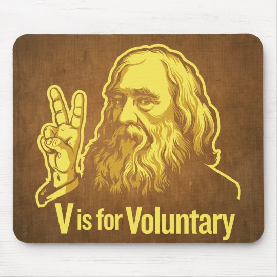V is for Voluntary Lysander Spooner Mouse Pad