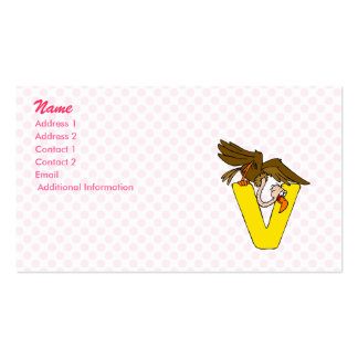 V is for Vulture Pack Of Standard Business Cards