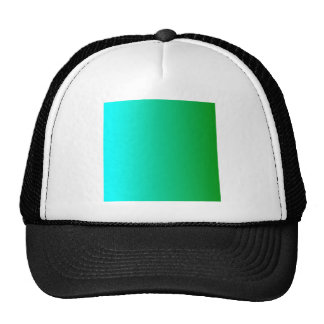 V Linear Gradient - Cyan to Green Mesh Hat