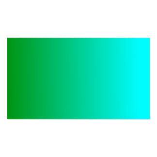 V Linear Gradient - Green to Cyan Business Card Template