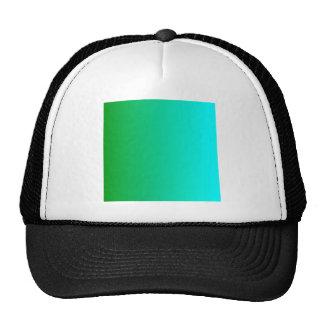 V Linear Gradient - Green to Cyan Trucker Hat