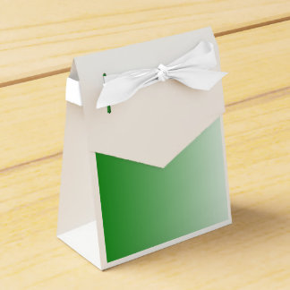 V Linear Gradient - Green to White Party Favor Box