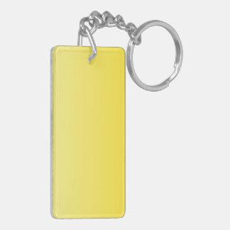 V Linear Gradient - Light Yellow to Dark Yellow Double-Sided Rectangular Acrylic Key Ring