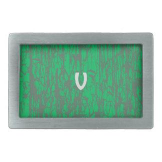 V on Green Belt Belt Buckle