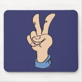 V-Sign is for Peace Mousepad