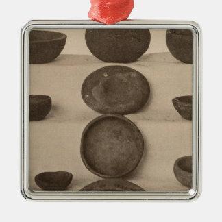 V Stone vessels, So California Silver-Colored Square Decoration