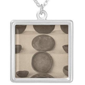 V Stone vessels, So California Silver Plated Necklace